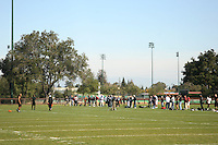 7 March 2007: Stanford players workout during Pro Day in front of NFL scouts on the practice field in Stanford, CA.