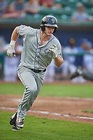 Casey Golden (16) of the Grand Junction Rockies runs to first base against the Ogden Raptors at Lindquist Field on September 6, 2017 in Ogden, Utah. Ogden defeated Grand Junction 11-7. (Stephen Smith/Four Seam Images)
