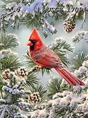 Dona Gelsinger, CHRISTMAS LANDSCAPES, WEIHNACHTEN WINTERLANDSCHAFTEN, NAVIDAD PAISAJES DE INVIERNO, paintings+++++,USGE1709,#xl# ,birds