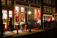 Nederland Amsterdam 2018.  Red Light District. Oudezijds Achterburgwal. De Wallen. Red Light Sectrets museum. Foto Berlinda van Dam / Hollandse Hoogte
