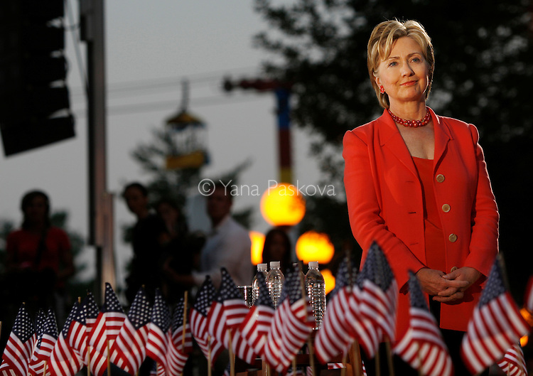 Democratic Presidential hopeful Hillary Clinton (D-NY) brought along her husband, former President Bill Clinton, as she campaigned at the Iowa State Fairgrounds in Des Moines, Iowa, on July 2, 2007.