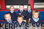 First day at school for these six young men in Scoil Mhuire NS Cahersiveen pictured front l-r; Daithi? Sugrue, Alex Kelly, Nedas Alimas, back l-r; Niall O'Sullivan, Cai O'Sullivan Cian O'Sullivan.