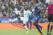 9th September 2017, King Power Stadium, Leicester, England; EPL Premier League Football, Leicester City versus Chelsea; Ngolo Kanté of Chelsea controls the ball
