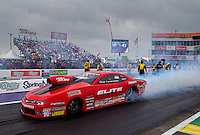 Apr 27, 2014; Baytown, TX, USA; NHRA pro stock driver Erica Enders-Stevens during the Spring Nationals at Royal Purple Raceway. Mandatory Credit: Mark J. Rebilas-USA TODAY Sports