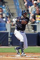 New York Yankees outfielder Curtis Granderson #14 at bat during a scrimmage against the USF Bulls at Steinbrenner Field on March 2, 2012 in Tampa, Florida.  New York defeated South Florida 11-0.  (Mike Janes/Four Seam Images)