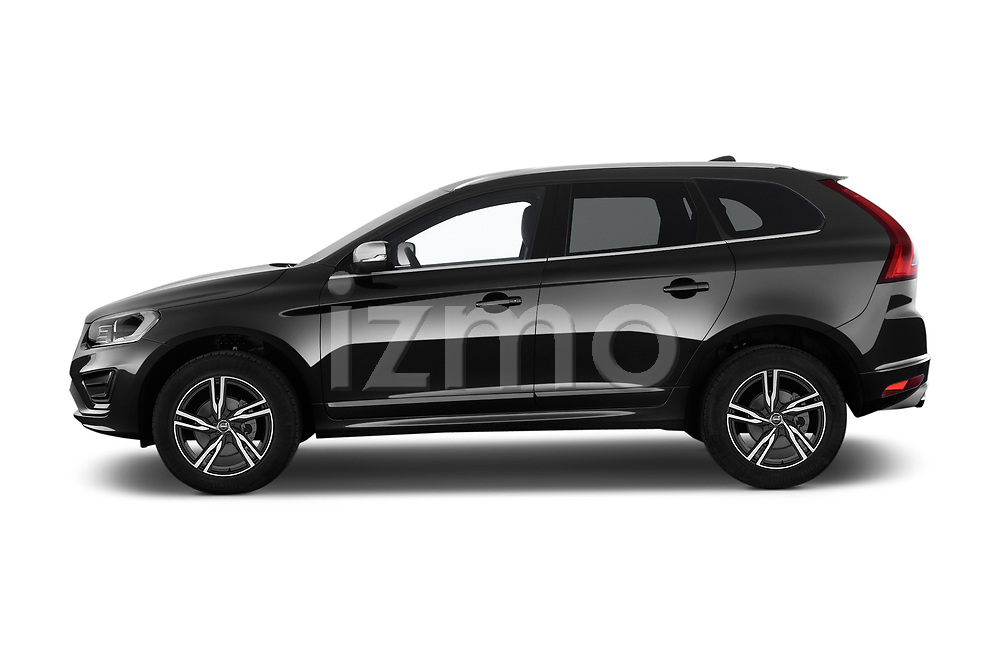 Car Driver side profile view of a 2017 Volvo XC60 R-Design 5 Door SUV Side View