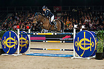 Jessica Mendoza of United Kingdom riding Ramiro de Belle Vue in action at the the Massimo Dutti Trophy during the Longines Hong Kong Masters 2015 at the AsiaWorld Expo on 15 February 2015 in Hong Kong, China. Photo by Juan Flor / Power Sport Images