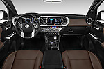 Stock photo of straight dashboard view of 2016 Toyota Tacoma Limited 4 Door Pickup Dashboard