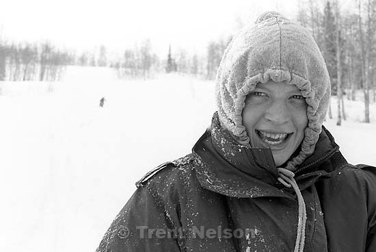 Laura Nelson cross-country skiing.<br />