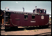 C&amp;TS caboose #0503.<br /> C&amp;TS  Chama, NM