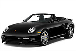 Front three quarter view of a 2009 Porsche Carrera Turbo, with top down..