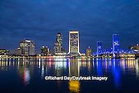 63412-01101 Jacksonville skyline at dusk, Jacksonville, FL