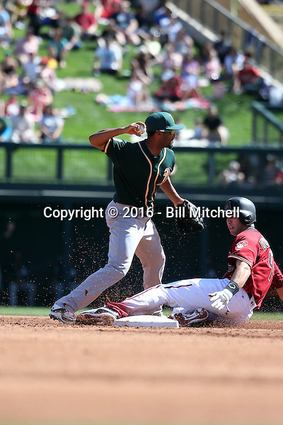 Marcus Semien - Oakland Athletics 2016 spring training (Bill Mitchell)