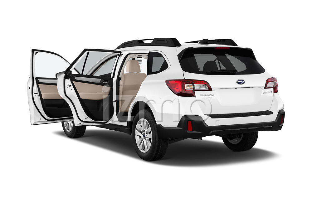 Car images close up view of a 2018 Subaru Outback Premium 5 Door Wagon doors