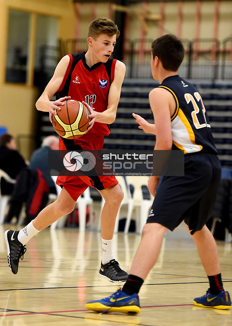 NELSON, NEW ZEALAND - SEPTEMBER 1: 2015 Junior Secondary Schools Basketball Tournament on September 1, at Saxton Stadium. 2015 in Nelson, New Zealand. (Photo by: Chris Symes Shuttersport Limited)