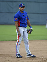 July 30, 2004:  Ofilio Castro of the Vermont Expos during a game at Russell Diethrick Park in Jamestown, NY.  Vermont is the Short Season Single-A NY-Penn League affiliate of the Montreal Expos (Washington Nationals).  Photo By Mike Janes/Four Seam Images