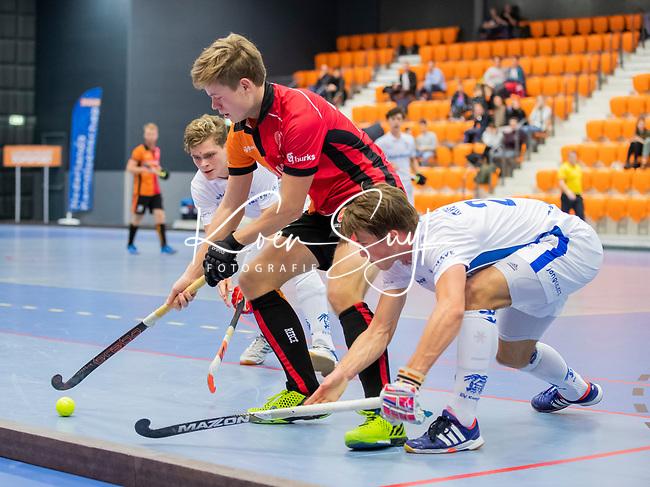 ROTTERDAM  - NK Zaalhockey,   wedstrijd om brons.  heren Oranje Rood- Kampong. OR wint. .    COPYRIGHT KOEN SUYK