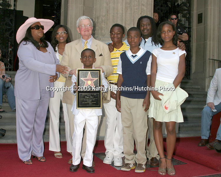 Roger Ebert and Family.Roger Ebert Receives Star on Walk of Fame.Hollywood Walk of Fame.Los Angeles, CA.June 23, 2005.©2005 Kathy Hutchins / Hutchins Photo