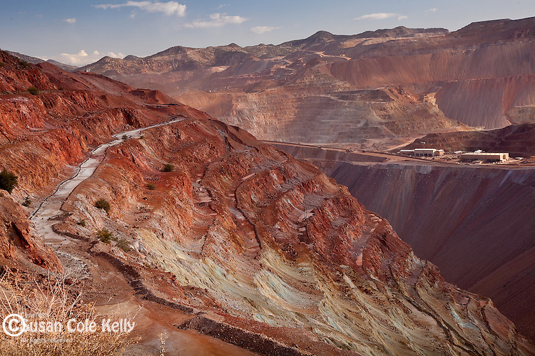 The open-pit Morenci Mine is the largest copper mining operation in North America. Morenci, AZ, USA