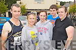Pictured at the Milltown Mini Marathon on Sunday, from left: George McCarthy (Milltown), Maria McCarthy (Milltown), Elaine O'Connor (Duagh), Andrew Purcell (Listowel) and Christine Purcell (Listowel)..