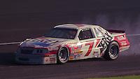 Alan Kulwicki encounters problems in the Atlanta Journal 500 at Atlanta International Raceway in Hampton, GA, November 1988.  (Photo by Brian Cleary/www.bcpix.com)
