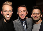 Justin Paul, Andrew Lippa and Benj Pasek attends The Dramatists Guild Foundation Salon with Matt Gould on March 12, 2018 at StellarTower in New York City.