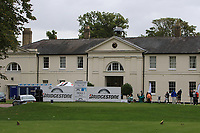 View of the 1st tee during the Pro-Am of the Bridgestone Challenge 2017 at the Luton Hoo Hotel Golf &amp; Spa, Luton, Bedfordshire, England. 06/09/2017<br /> Picture: Golffile | Thos Caffrey<br /> <br /> <br /> All photo usage must carry mandatory copyright credit     (&copy; Golffile | Thos Caffrey)