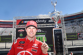 #18: Ryan Preece, Joe Gibbs Racing, Toyota Camry Rheem, celebrates in Victory Lane.