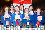 Killtallagh NS, Castlemaine with their cards they sold at the Young Entrepreneur Project finals in the Malton Hotel on Thursday l-r: Charlotte Orme, Sarah flaherty, Chara Wharton. Avril murphy, Kate Moroney, Natasha Griffin and Syanne Dowd