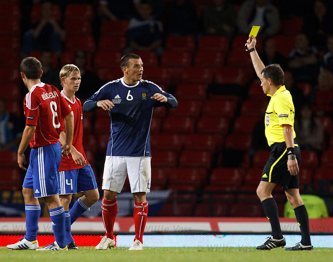 Lee McCulloch gobsmacked as he is booked