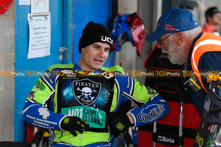 Richie Worrall of Poole Pirates during Poole Pirates vs King's Lynn Stars, SGB Premiership Shield Speedway at The Stadium on 11th April 2019