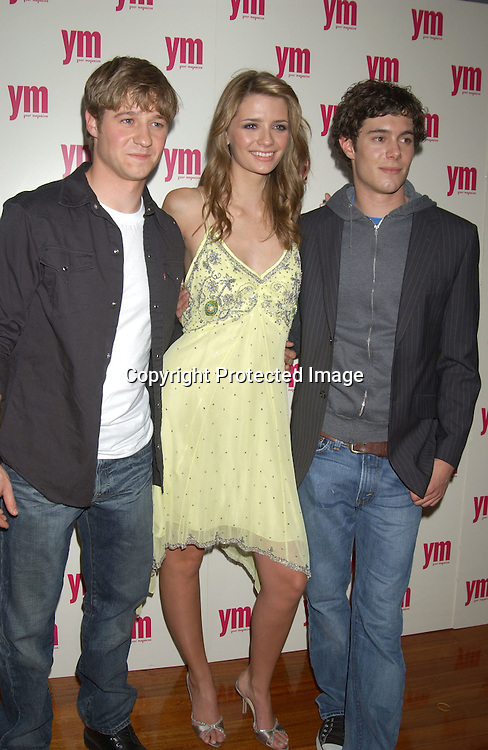 """..Ben McKenzie, Mischa Barton and Adam Brody..at """"The O.C."""" Fox TV Show  party given by YM Magazine to celebrate the stars being on the cover of YM on    October 28, 2003 at LQ in New York City. ..Photo By Robin Platzer, Twin Images"""