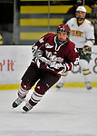 22 November 2011: University of Massachusetts Minutemen forward Peter DeAngelo, a Sophomore from Milford, MA, in action against the University of Vermont Catamounts at Gutterson Fieldhouse in Burlington, Vermont. The Catamounts defeated the Minutemen 2-1 in their annual pre-Thanksgiving meeting of the Hockey East season. Mandatory Credit: Ed Wolfstein Photo