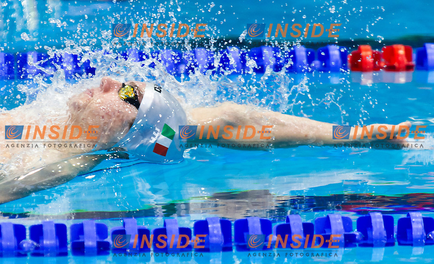 MORA Lorenzo ITA<br /> Men's 200m backstroke heats<br /> Netanya, Israel, Wingate Institute<br /> LEN European Short Course Swimming Championships  Dec. 2 - 6, 2015 Day01 Dec. 2nd<br /> Nuoto Campionati Europei di nuoto in vasca corta<br /> Photo Giorgio Perottino/Deepbluemedia/Insidefoto