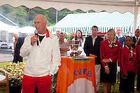 06-06-10, Tennis, Den Haag, Playoffs Eredivisie, Fred Hemmes spreekt een dankwoord