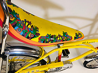 BNPS.co.uk (01202 558833)<br /> Pic: OmegaAuctions/BNPS<br /> <br /> PICTURED:  A Yellow Submarine retro bicycle which fetched nearly £3,350<br /> <br /> The first ever played Beatles record is leading a £75,000 sale of music memorabilia by a veteran radio DJ.<br /> <br /> Tony Prince worked for Radio Luxembourg which was the first to give air time to the Fab Four.<br /> <br /> On the evening of October 5, 1962, the pirate radio station broadcast the 7in single. <br /> <br /> It was the first time the people of the UK got to hear the ground-breaking music of The Beatles.