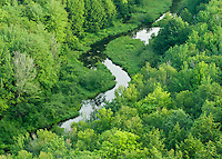 The Big Carp River flows here in summer through Porcupine Mountains Wilderness State Park in Michigan's Upper Peninsula.