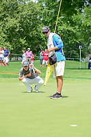Emiliano Grillo (ARG) lines up his putt on 10 during Saturday's round 3 of the World Golf Championships - Bridgestone Invitational, at the Firestone Country Club, Akron, Ohio. 8/5/2017.<br /> Picture: Golffile | Ken Murray<br /> <br /> <br /> All photo usage must carry mandatory copyright credit (&copy; Golffile | Ken Murray)