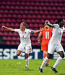 Fara Williams, Anita Asante, SF, England-Holland, Women's EURO 2009 in Finland, 09062009, Tampere Ratina Stadium.