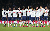 The Tottenham Hotspur players during the penalty shoot-out<br /> <br /> Photographer Rob Newell/CameraSport<br /> <br /> The Emirates FA Cup Fifth Round - Tottenham Hotspur v Norwich City - Wednesday 4th March 2020 - Tottenham Hotspur Stadium - London<br />  <br /> World Copyright © 2020 CameraSport. All rights reserved. 43 Linden Ave. Countesthorpe. Leicester. England. LE8 5PG - Tel: +44 (0) 116 277 4147 - admin@camerasport.com - www.camerasport.com