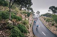 peloton descending the Coll de Soller<br /> <br /> Trofeo Lloseta - Andratx: 140km<br /> 27th Challenge Ciclista Mallorca
