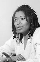 Alice Walker, è una scrittrice, attivista, poetessa statunitense. Libri, cultura americana. Femminista per i diritti delle donne afroamericane e delle lesbiche, ha scritto opere di narrativa su tematiche di genere e sul razzismo. Milano, 2 maggio 1988. Photo by  Leonardo Cendamo/Gettyimages