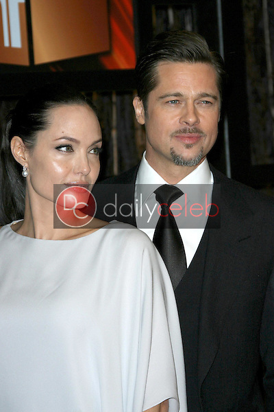 Angelina Jolie and Brad Pitt<br />