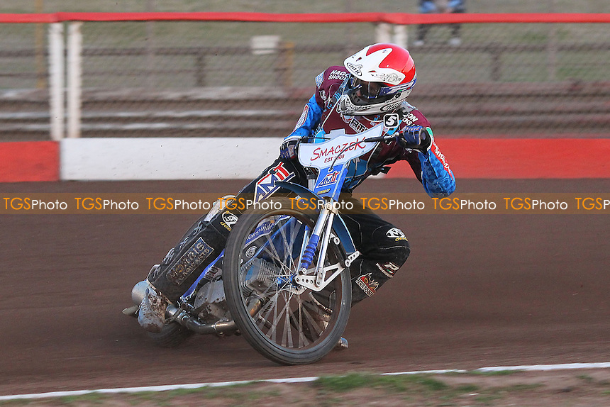 Heat 4: Piotr Swiderski of Lakeside - Vortex Lakeside Hammers vs Kings Lynn Stars - Sky Sports Elite League Speedway at Arena Essex Raceway, Purfleet - 23/04/13 - MANDATORY CREDIT: Gavin Ellis/TGSPHOTO - Self billing applies where appropriate - 0845 094 6026 - contact@tgsphoto.co.uk - NO UNPAID USE.