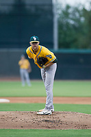 AZL Athletics starting pitcher James Naile (47) looks to his catcher for the sign during a rehab start against the AZL White Sox on July 20, 2017 at Camelback Ranch in Glendale, Arizona. AZL Athletics defeated the AZL White Sox 5-2. (Zachary Lucy/Four Seam Images)