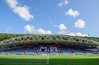 A general view of The John Smith's Stadium, home of Huddersfield Town<br /> <br /> Photographer Chris Vaughan/CameraSport<br /> <br /> The Carabao Cup First Round - Huddersfield Town v Lincoln City - Tuesday 13th August 2019 - John Smith's Stadium - Huddersfield<br />  <br /> World Copyright © 2019 CameraSport. All rights reserved. 43 Linden Ave. Countesthorpe. Leicester. England. LE8 5PG - Tel: +44 (0) 116 277 4147 - admin@camerasport.com - www.camerasport.com