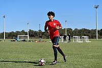 Lakewood Ranch, FL - Sunday Jan. 07, 2018: Richard Ledezma during an U-19 USMNT training session at Premier Sports Campus in Lakewood Ranch, FL.