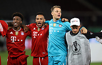 Schlussjubel , Jubel , FCB Torwart , Torhüter , Goalkeeper , Manuel Neuer , FCB Kingsley Coman ,  FCB Corentin Tolisso , <br /> <br /> firo, Sport, Fussball, Pokalfinale: Saison 2019/2020, 04.07.2020<br /> DFB-Pokal Finale der Herren<br /> Bayer Leverkusen - FC Bayern München , Muenchen<br /> <br /> Foto: <br /> Jürgen Fromme / firosportphoto / POOL / Marc Schueler / Sportpics.de<br /> <br /> Nur für journalistische Zwecke! Only for editorial use!