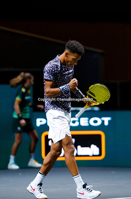 Rotterdam, The Netherlands, 11 Februari 2020, ABNAMRO World Tennis Tournament, Ahoy, <br /> Felix Auger-Aliassime (CAN). Photo: www.tennisimages.com