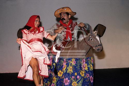 Recife, Pernambuco State, Brazil. Bumba Meu Boi traditional folk dance.